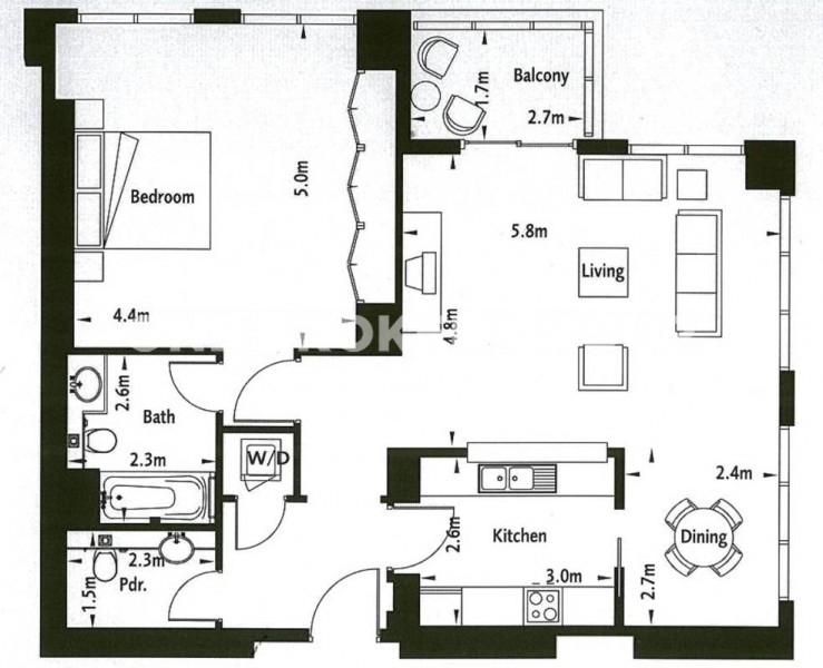 Spacious 1BR apartment in South Ridge 03