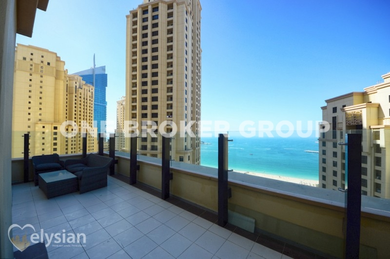 Upgraded! 2 BR with Sea View Big Terrace