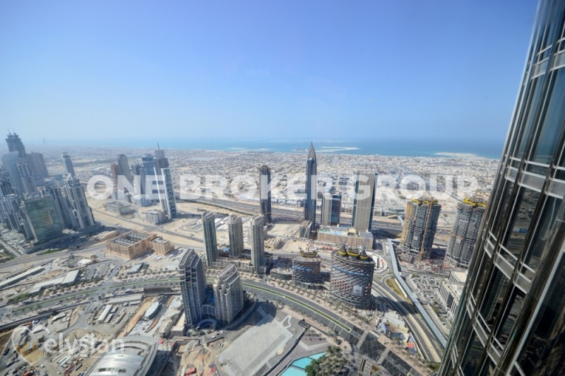Large 1BR with Sea View | Burj Khalifa