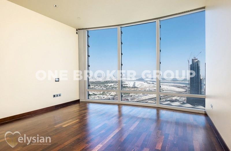 Vacant 1BR | Sea View | Burj Khalifa