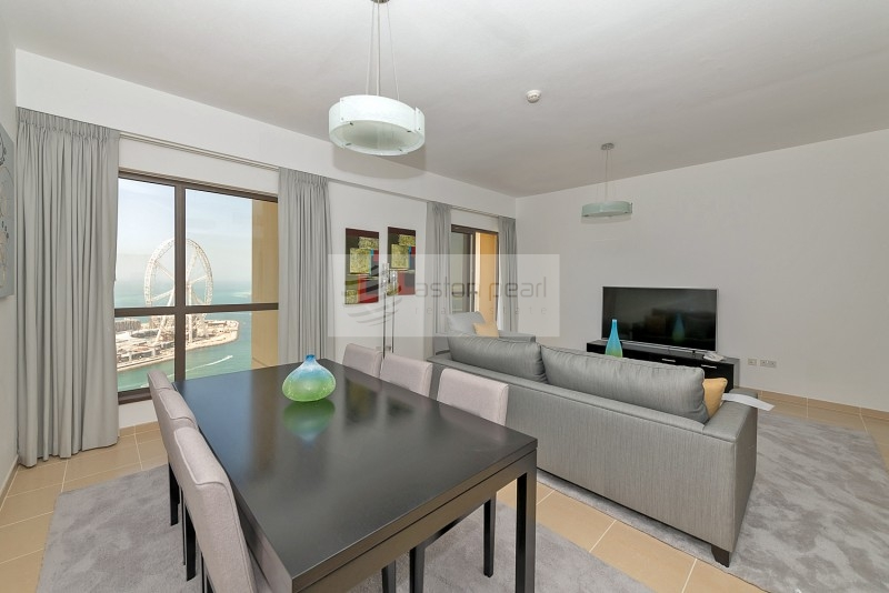 Full Sea and Dubai Eye Views |  Renovated 2BR