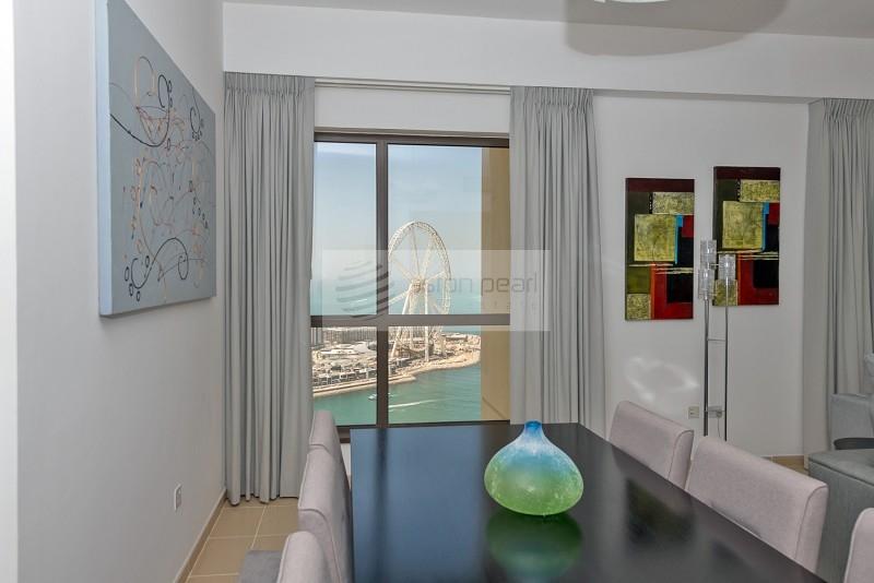 Full Sea and Ain Dubai View Renovated 2B