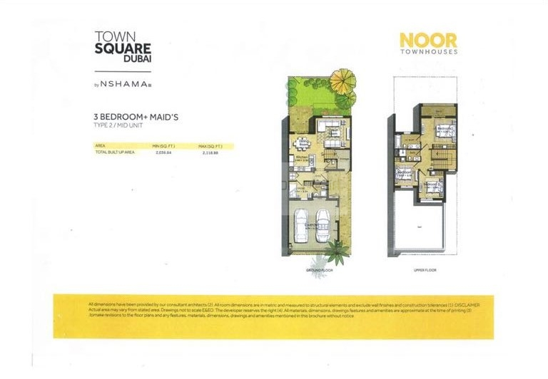 Exclusive 3BR+M| Type 2 | Noor Townhouse