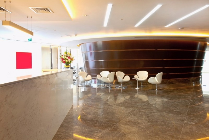Full Floor Office with Fountain and Burj Views