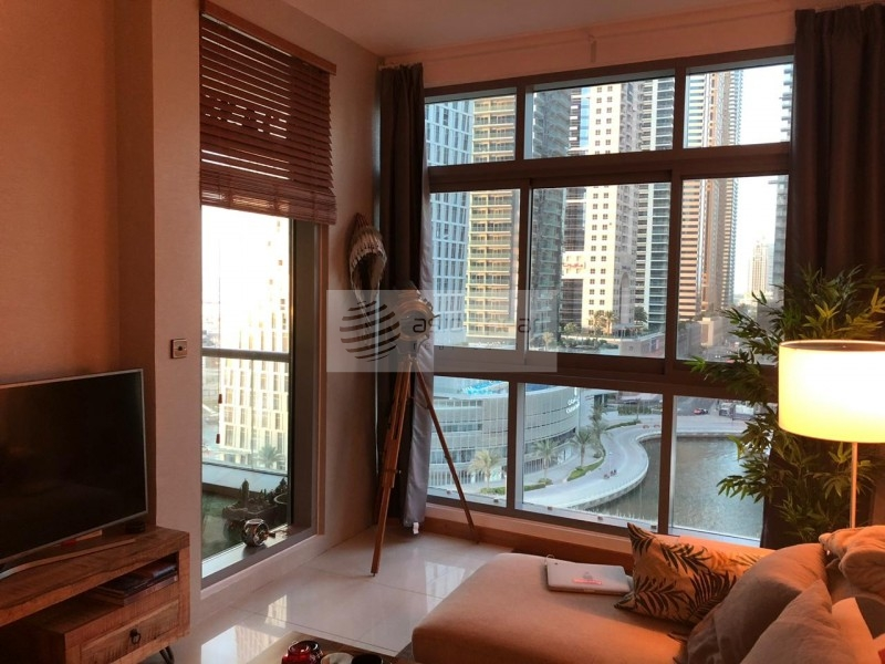 EXCLUSIVE, Fully Furnished 1BR, Full Marina View