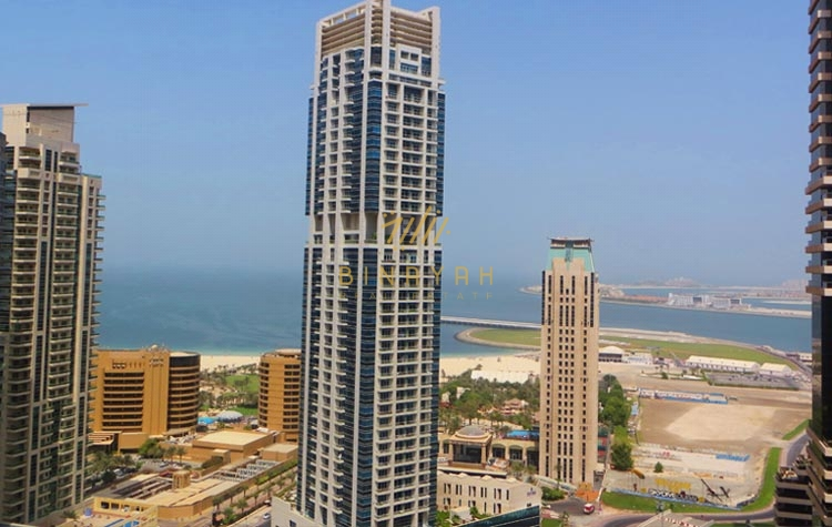 Marina and Sea View | 2BR+M Apt | Rented