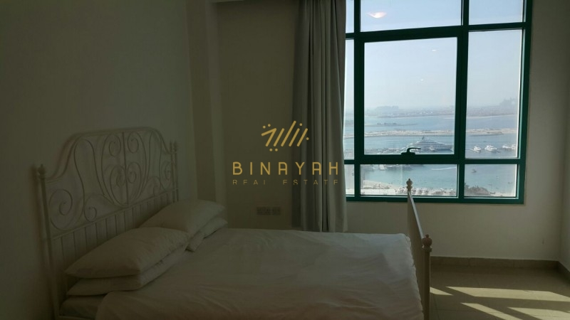 Full Sea View Furnished 1 Bedroom Apartment at Marina Crown