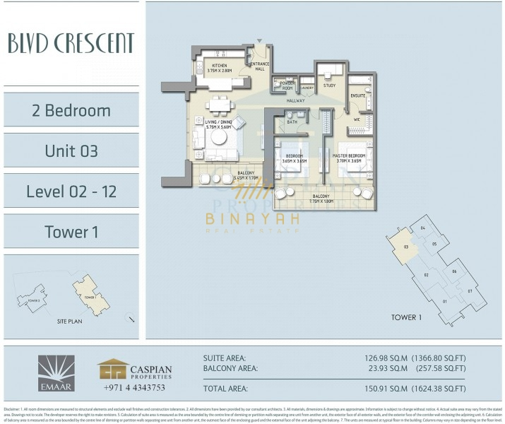2 Bedroom Apartment In Boulevard Crescent 2 For Sale