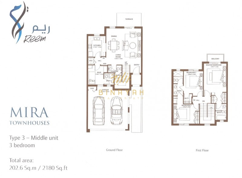 Mira Phase 1 Townhouses for Rent | 3 Bedroom Type 3M