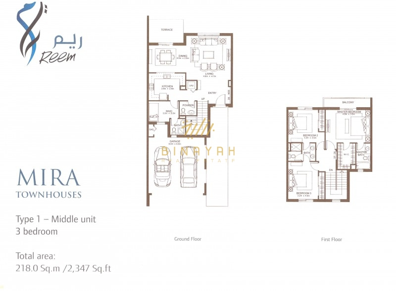 Mira Townhouses 3 Bedroom with Maid ,1M