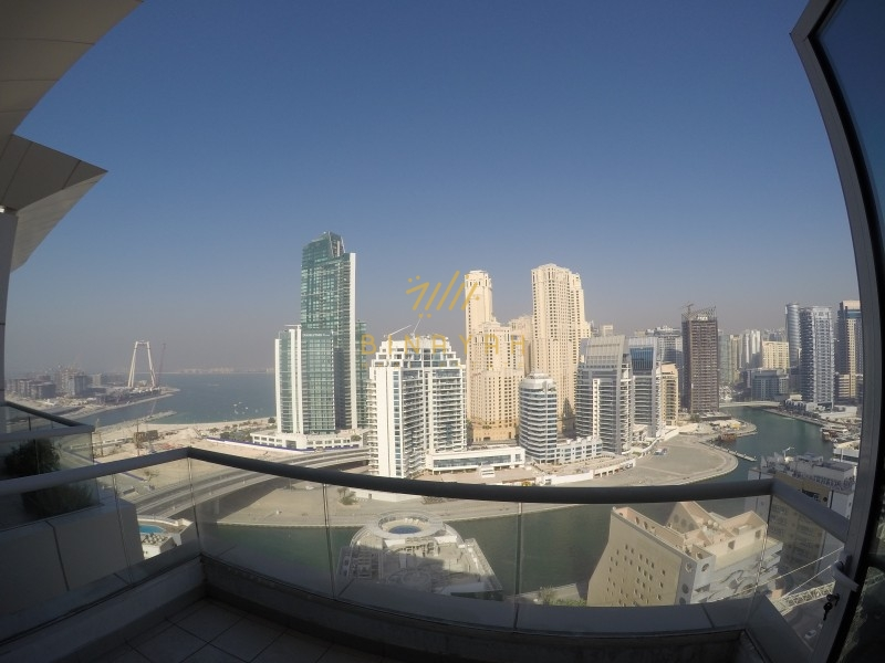 En suite 3BR+M Penthouse | Marina-Sea Dubai Eye View