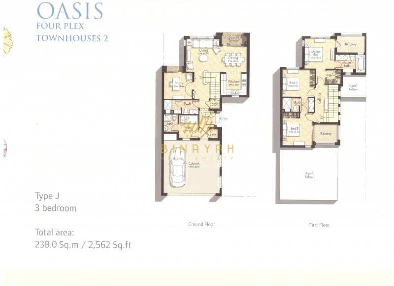 Mira Oasis Villa 3 Bedroom Type J Park View