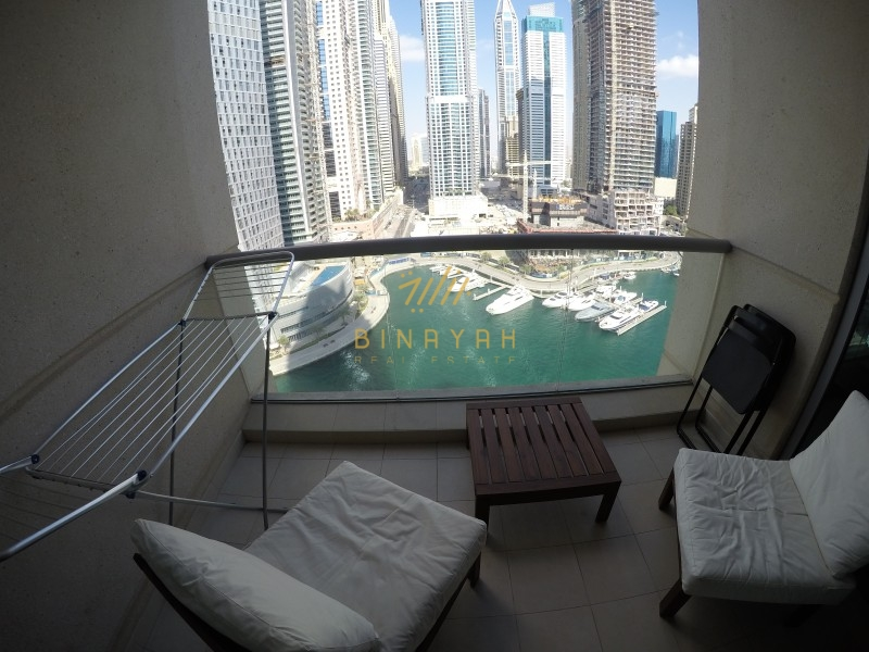 Stunning Marina View | Elegantly Furnished 1BR Apt