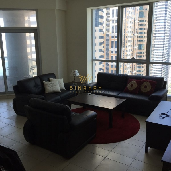 Furnished 2 BR|Multiple Chqs |Palm Views