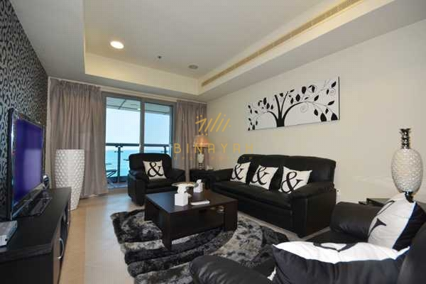 Large 2 BR I Furnished l Full Sea View
