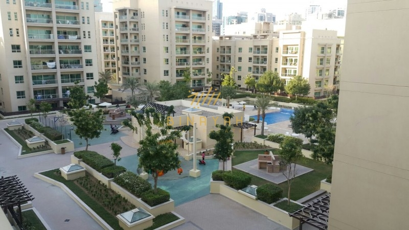Big One Bedroom Apartment with Pool View in Al Arta Greens