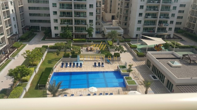 2 BR with Study   Pool View   for 125 K