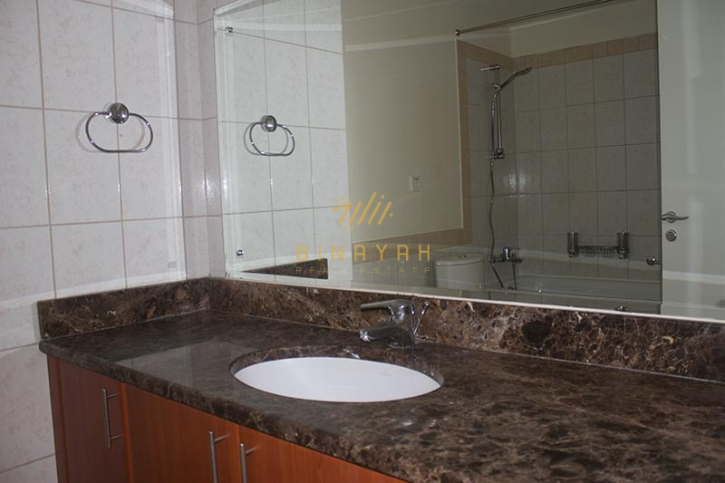 Pool and Park View  2E  3 BR Unfurnished