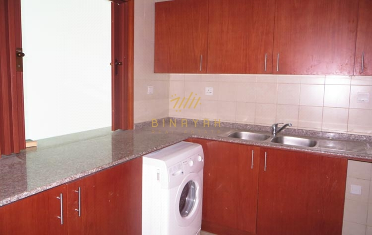 1BR | Unfurnished | Vacant | partial sea & Golfcourse view