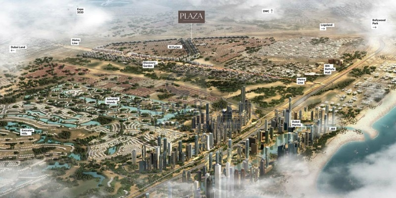 Direct from Developer 0% Commission AZIZI Plaza Pay 70% on Handover in 2018