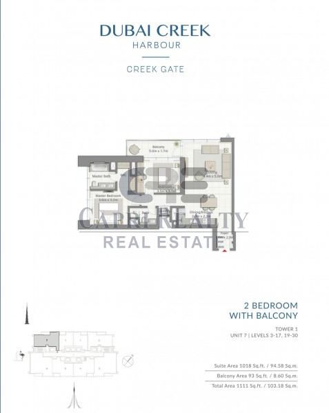 Direct from Developer|0% Commission|Creek Gate Tower 1|Pay 40% on Handover in 2020