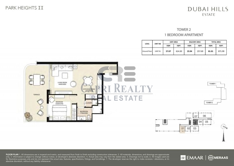 0% commission|Park Heights|Dubai Hills Estate