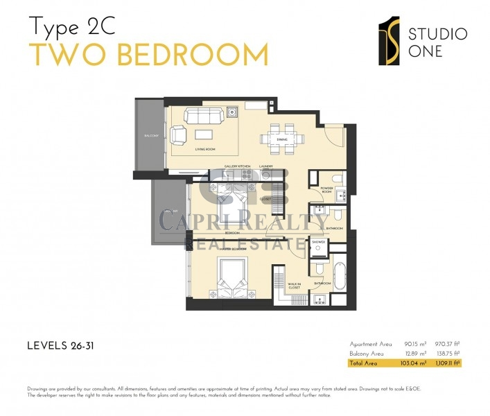 Studio One|Pay 75% on Handover Q2 2019