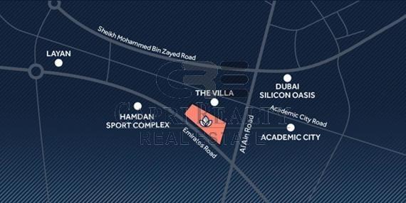 20mns downtown|8mns Academic city|2% DLD