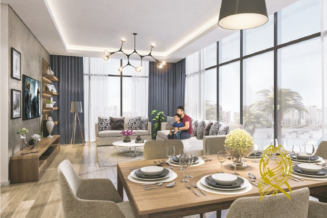 Full Canal view for Studio in Azizi Riviera at Meydan