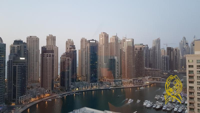 Gorgeous 3BR+Maid in The Waves Tower A, High floor, Full panoramic Dubai Marina
