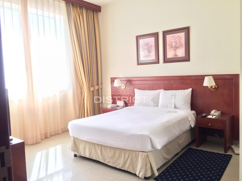 Furnished 1BR Hotel Apartment in Muroor St.