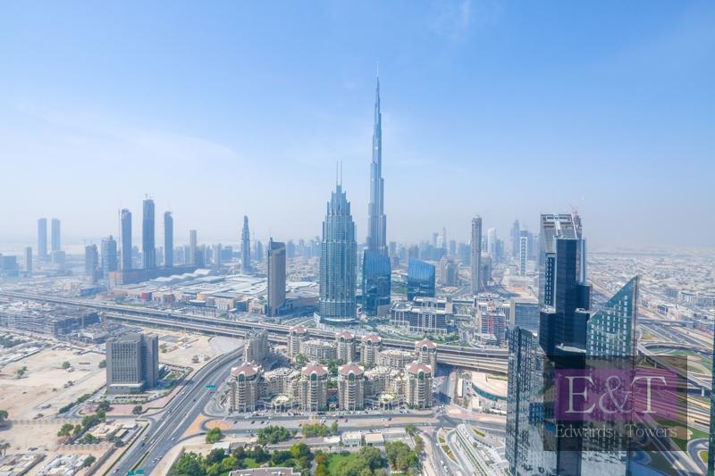 Full Burj Khalifa and Sea View - High Floor