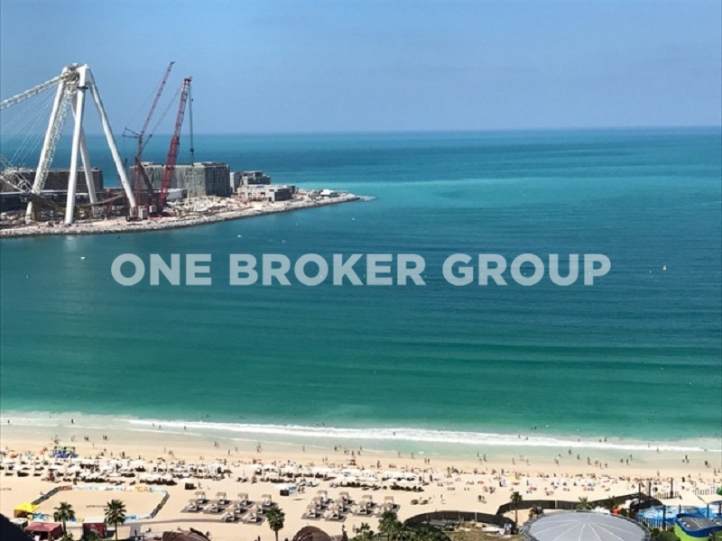 Huge, JBR, Rimal, 3 Bed, Full Sea View, Vacant