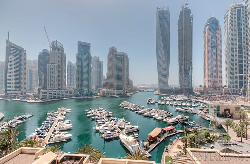 Amazing full Marina view 3 BR + Maids in Al Anber