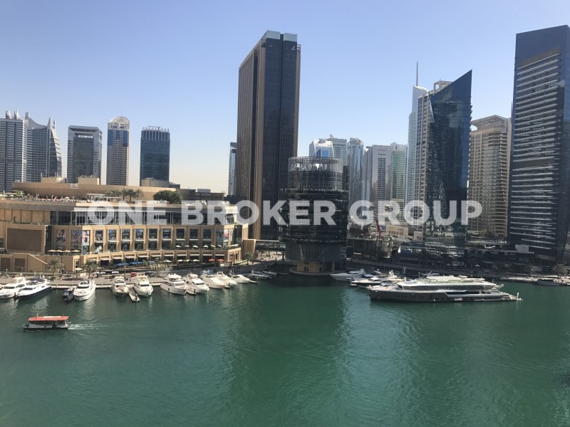 Fully Furnished 1BR Apt,Full Marina View