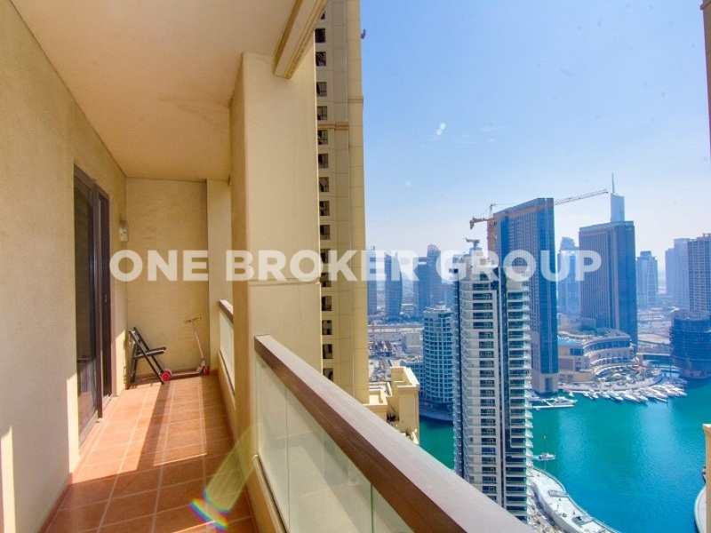 Furnished 1 Bed Apt, Partial Marina View