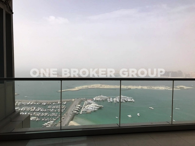 3BR with Panoramic view of Palm and Marina
