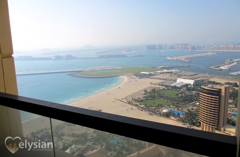 Spacious 1BR | Full Sea and Palm View