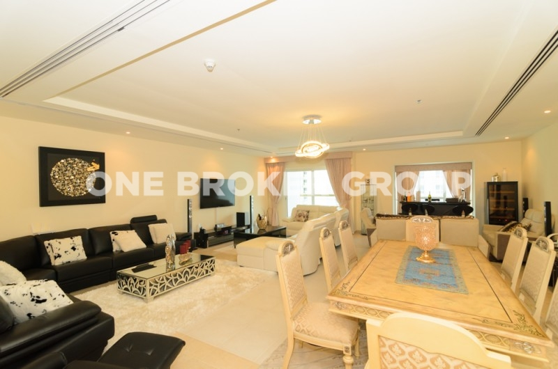 Stunning 4BR,High Floor,Vacant,Sea View