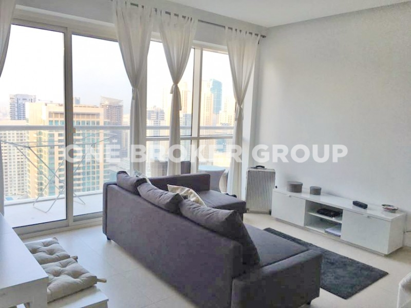 Furnished One Bedroom With  Marina Views